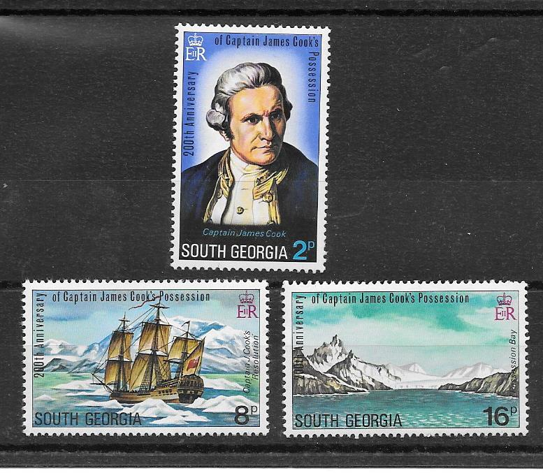 James Cook and South Georgia 1975 Stamps