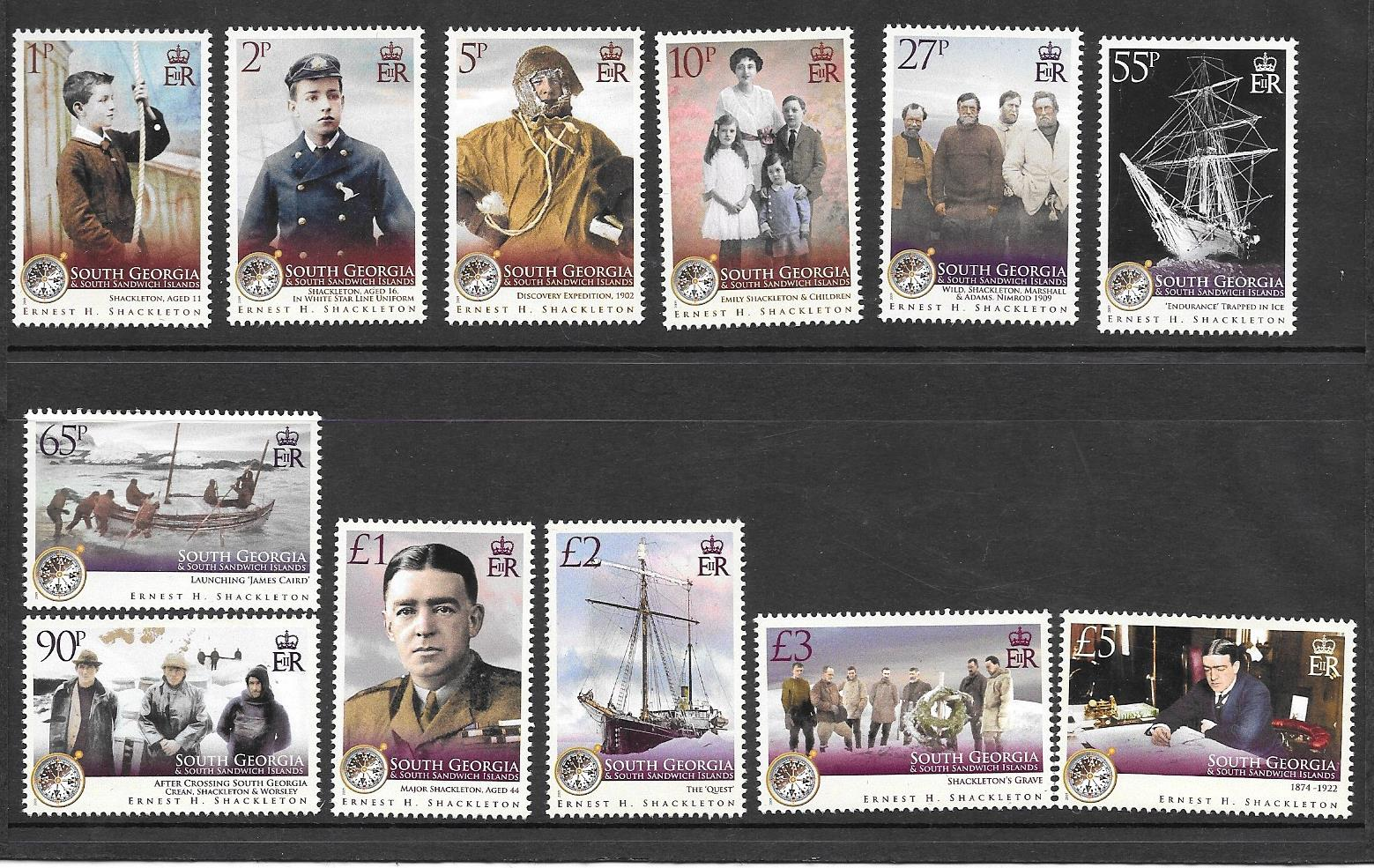 Shackleton Set Stamps 2009