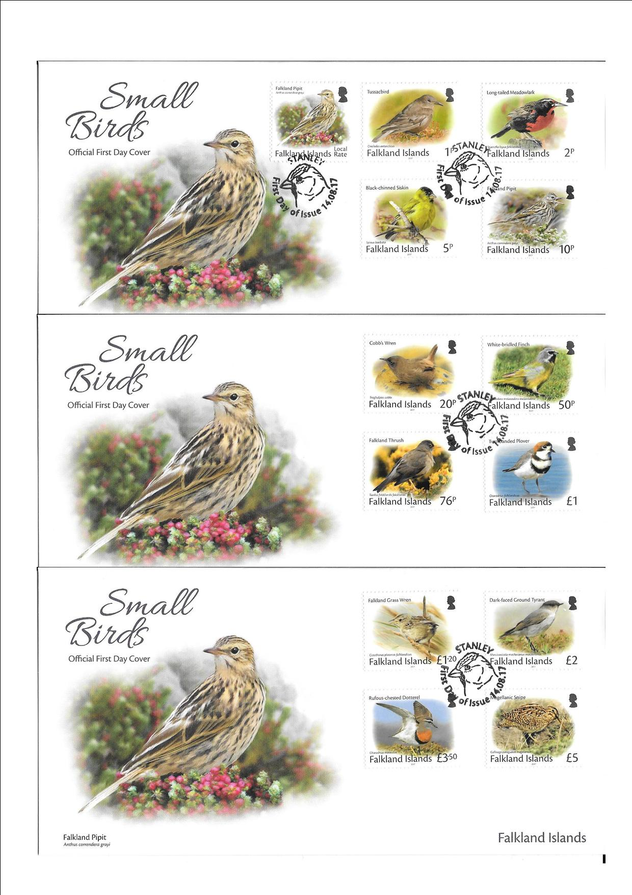 Small Birds Definitive Set First Day Covers