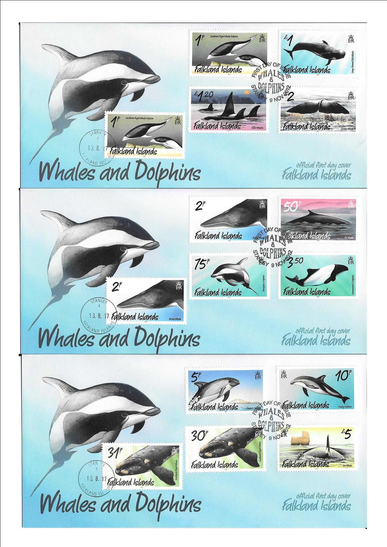 Whales and Dolphins Definitive Set Last Day Issue