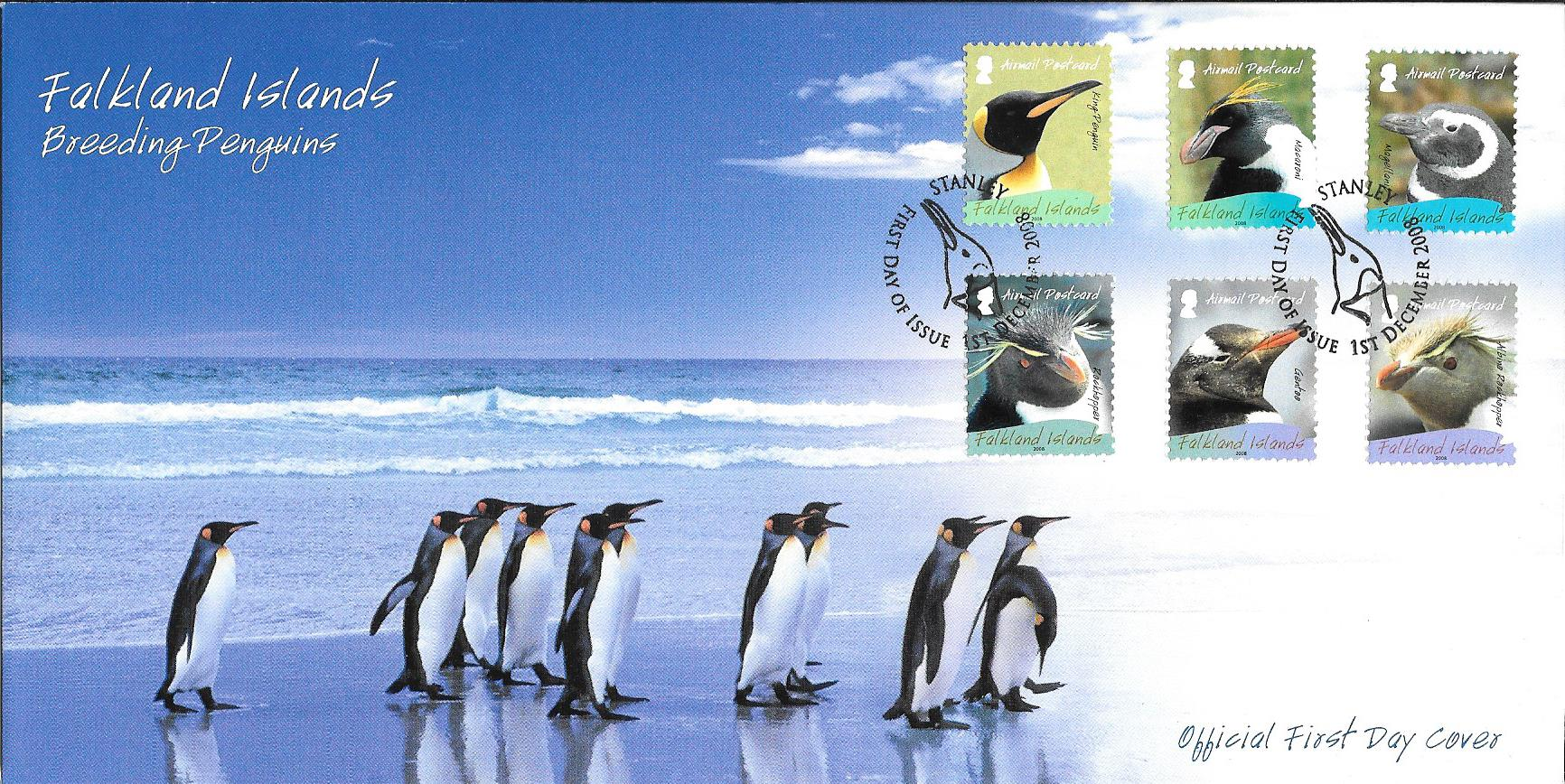 2017 Falkland Islands King Penguin Coin w//Pouch /& COA