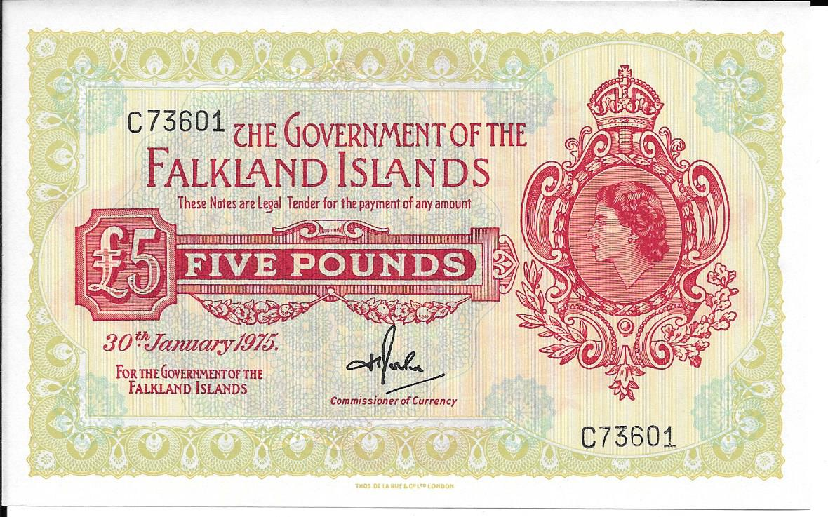 1975 Five Pound Banknote C73601