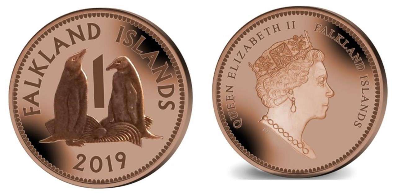 2019 One Pence Gentoo Penguin