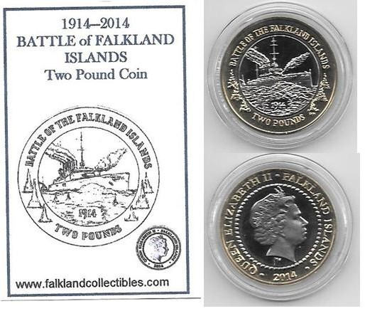 2014 Battle of the Falklands Two Pound Coin