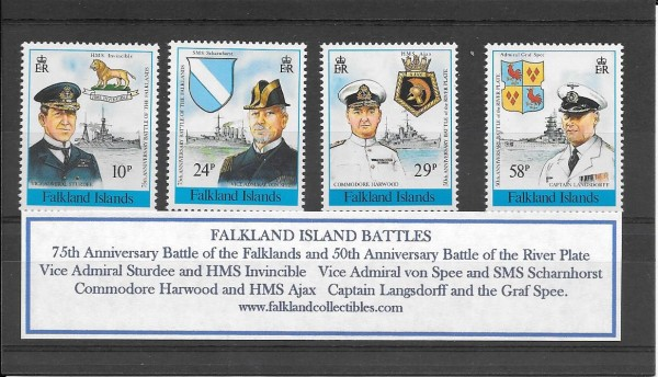 Falkland Collectibles - Battle of Falklands 1914 and River Plate 1939